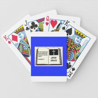 "Bible ""Jesus Saves"" Series: Genesis 1:1 Poker Deck"