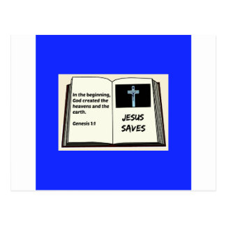"Bible ""Jesus Saves"" Series: Genesis 1:1 Postcard"