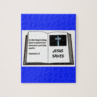 "Bible ""Jesus Saves"" Series: Genesis 1:1 Puzzle"