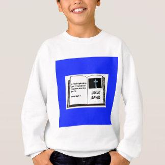 """Bible """"Jesus Saves"""" Series: Genesis 1:1 Sweatshirt"""