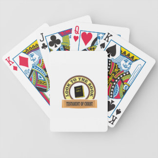 bible look to the book bicycle playing cards