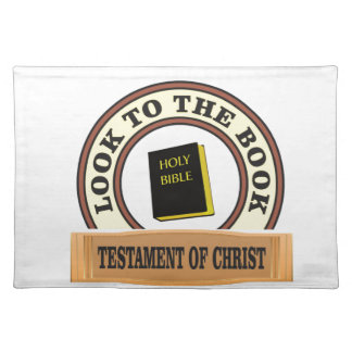 bible look to the book placemat