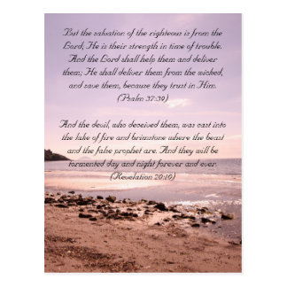 Bible passage, the seaside postcard