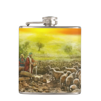 Bible - Psalm 23 - My cup runneth over 1920 Flasks