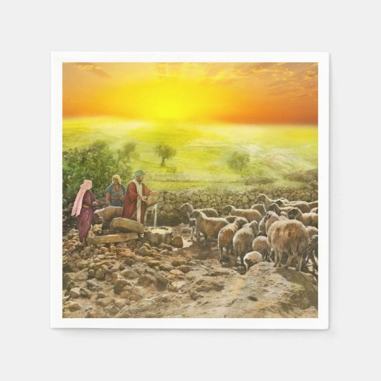 Bible - Psalm 23 - My cup runneth over 1920 Paper Napkin