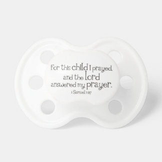 bible quote baby pacifier