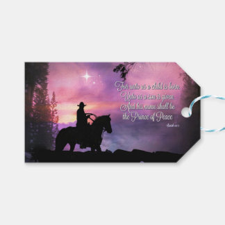 Bible Quote Cowboy Country Religious Gift Tags