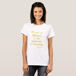 Bible Quote | Golden Yellow Proverbs 1:7 T-Shirt