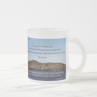 Bible Quotes Christian Frosted Glass Mug