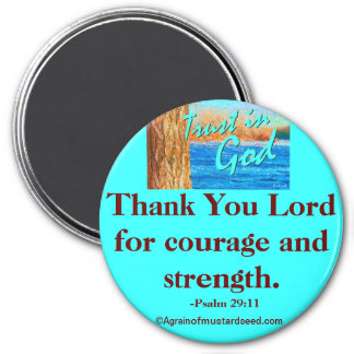Bible Quotes Inspirational 3 Inch Round Magnet
