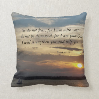 bible quotes Isaiah 41: 10 pillow