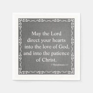 Bible Scripture Blessing - 2 Thessalonians 3:5 Napkin