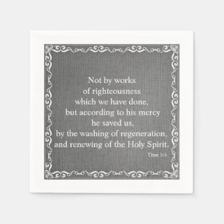 Bible Scripture Blessing - Titus 3:5 Paper Napkin