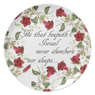 Bible Scripture Christian Inspiration Plate