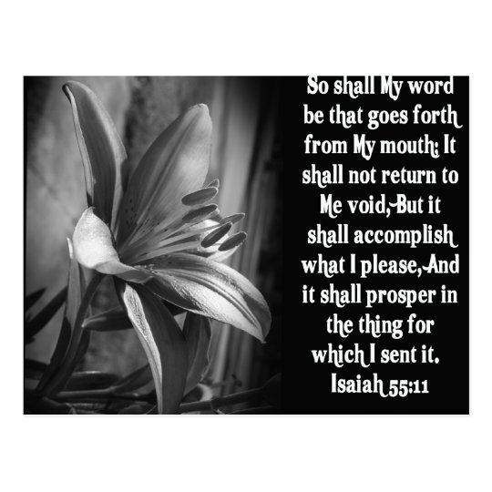 BIBLE SCRIPTURE ISAIAH 55:11 POSTCARD