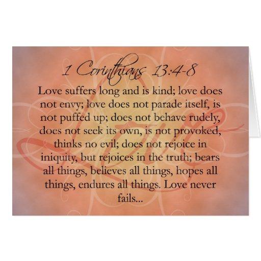 Bible Scripture Love Script on Orange Vintage Cards