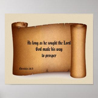 BIBLE SCRIPTURE SCROLL poster
