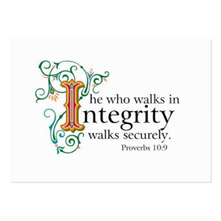 Bible Scriptures on Trust and Integrity.. Pack Of Chubby Business Cards