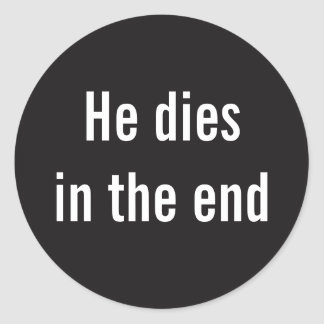 Bible Spoiler Round Sticker