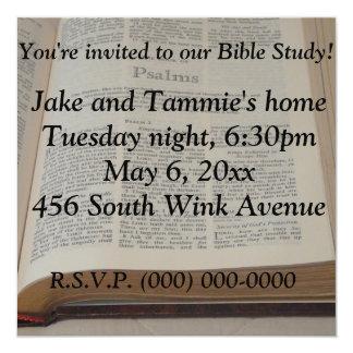 """Bible Study 5.25"""" Square Invitation Card"""