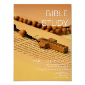 Bible Study: Customizable Church Event Poster