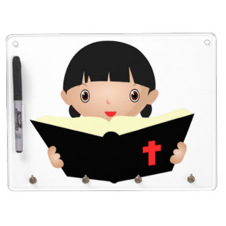 BIBLE STUDY DRY ERASE BOARD WITH KEYCHAIN HOLDER