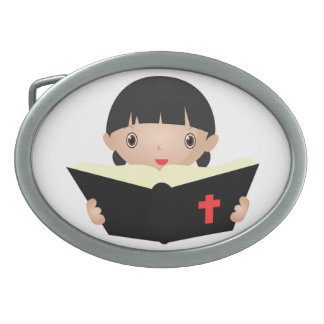 BIBLE STUDY OVAL BELT BUCKLE