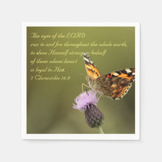 Bible Text 2 Chronicles 16:9 Paper Napkin