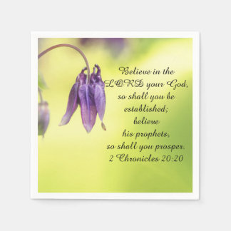Bible Text 2 Chronicles 20:20 Paper Napkin