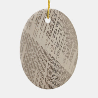 Bible Text Ceramic Ornament