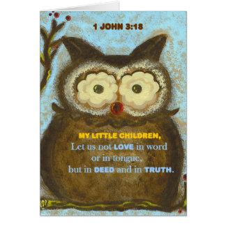 Bible Verse: 1 John 3:18 PedagogyGreetings Card