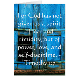 Bible Verse About Courage - Timothy 1:7 Greeting Card