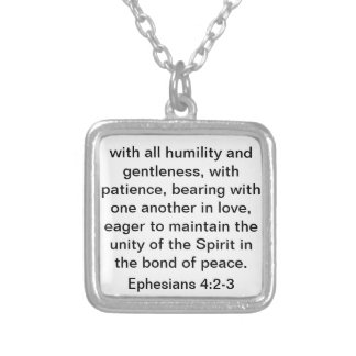Bible Verse About Love for Marriage or Wedding Silver Plated Necklace