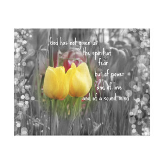 Bible Verse and Tulips Canvas Print