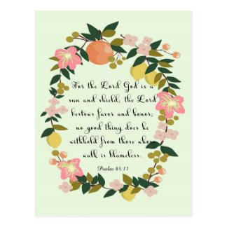 Bible Verse Art - Psalm 84:11 Postcard