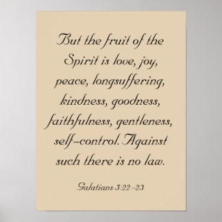 Bible Verse Artwork, Fruit of the Spirit Poster