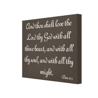 Bible verse canvas stretched canvas print