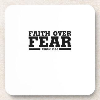 Bible Verse Christian Jesus Faith Over Fear Psalm Coaster