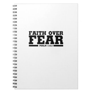 Bible Verse Christian Jesus Faith Over Fear Psalm Notebooks
