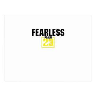 Bible Verse Christian Jesus Fearless Psalm 23 Postcard