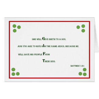 Bible Verse Christmas Card - Matthew 1:21