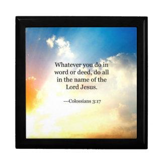 Bible verse - Colossians 3:17 Gift Box