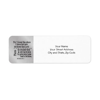 Bible Verse: For I know the Plans I have for you Return Address Label
