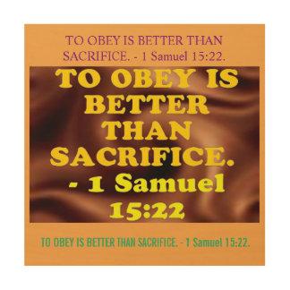 Bible verse from 1 Samuel 15:22. Wood Wall Art