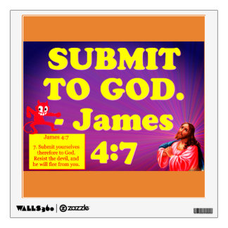 Bible verse from James 4:7. Wall Decal