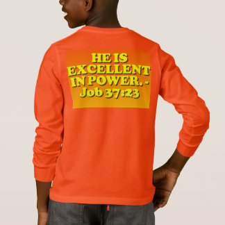 Bible verse from Job 37:23. T-Shirt