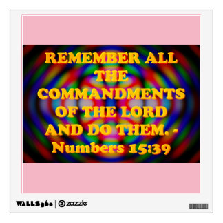Bible verse from Numbers 15:39. Wall Sticker
