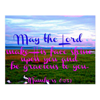 Bible verse from Numbers May the Lord make Postcard