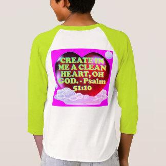 Bible verse from Psalm 51:10. T-Shirt