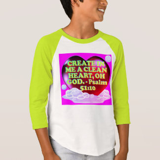 Bible verse from Psalm 51:10. T-Shirt